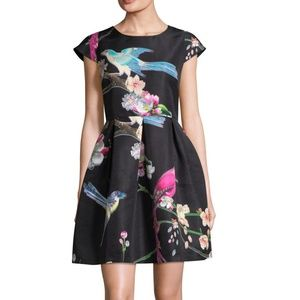 Ted Baker Zaldana Flight Of The Orient Print Dress